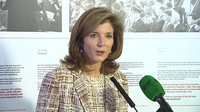 Caroline Kennedy has taken part in a number of ceremonies celebrating her ancestral links