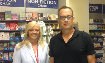 Shannon Airport Duty Manager Carmel Donnellan meets Tom Hanks