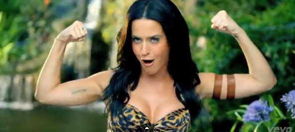 katy parry roars up the charts
