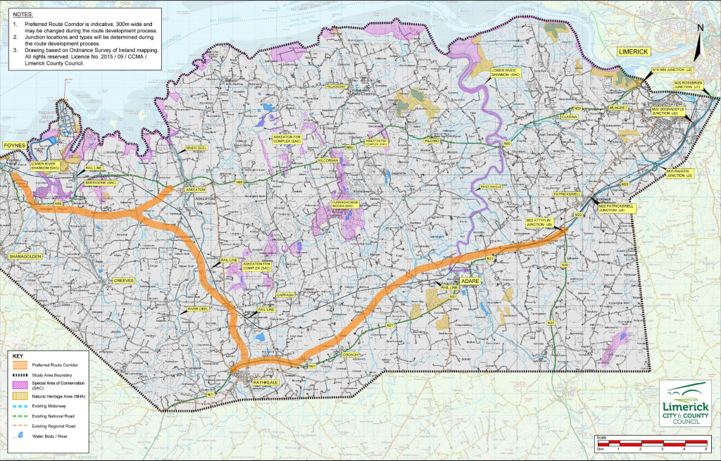 Public Display of the Preferred Route Corridor for the Foynes to Limerick Road Improvement Scheme