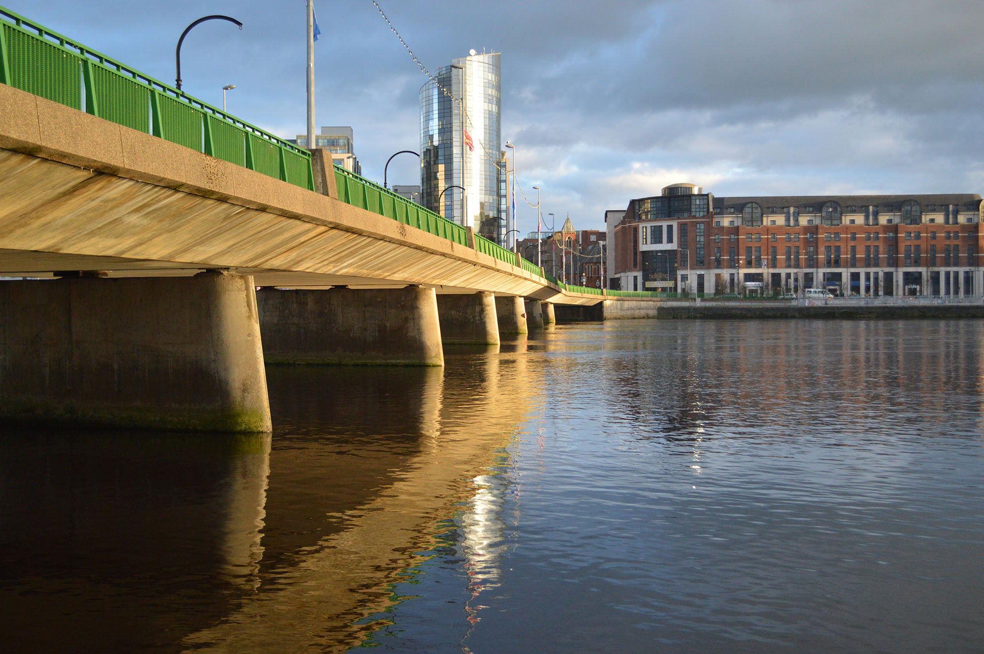 view of the shannon bridge running over the river shannon