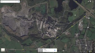 google maps screenshot of limerick cement works