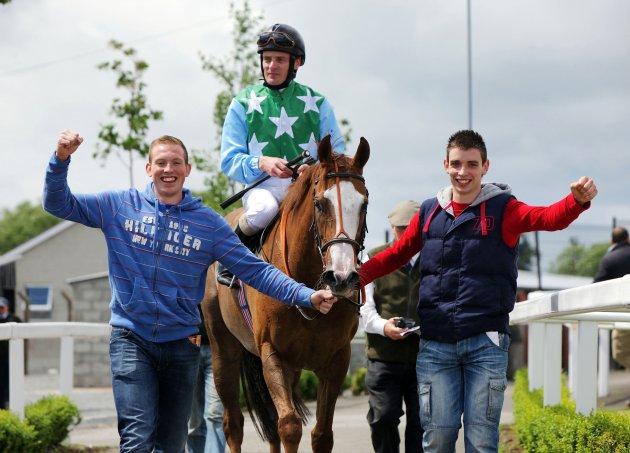 Limerick senior hurlers celebrate as part of winning horse racing syndicate