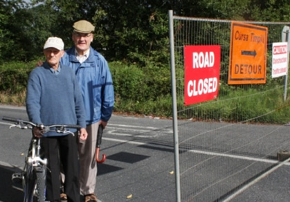 Parteen residents protest over Clare Co. Council roadworks